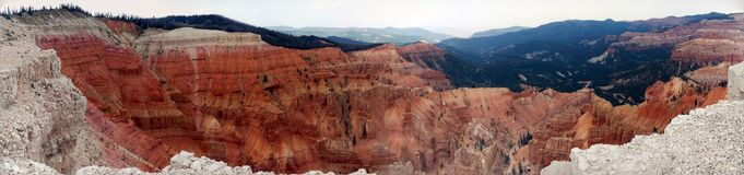 Cedar Breaks - National Monument Pano royalty free stock photo