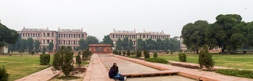 Panorama in The Red Fort in Delhi India Stock Images