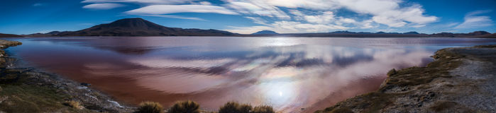Panorama of Red Lagoon Royalty Free Stock Image