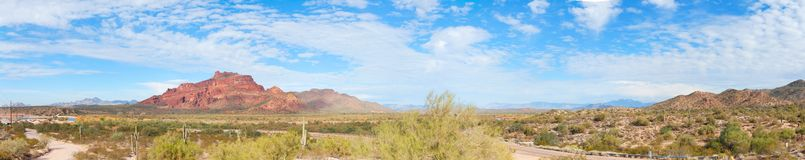 Panorama of Red Mountain in Arizona Royalty Free Stock Photo
