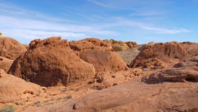 Panorama Of Red Rock Canyon. 4k, 3840x2160 stock video footage