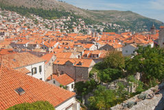 Panorama of red roofs Royalty Free Stock Photography