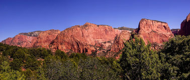 Panorama, red sandstone cliffs Royalty Free Stock Photography