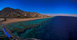 Panorama of the red sea Stock Images