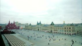Panorama of Red Square. In Moscow, Russia stock video