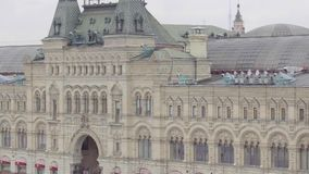 Panorama of Red Square. In Moscow, Russia stock footage
