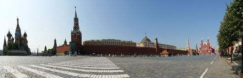 Panorama of Red Square on a summer day, Moscow Stock Image
