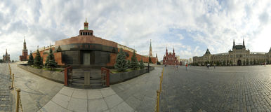 Panorama of Red Square on a summer day, Moscow, Russia Royalty Free Stock Photography