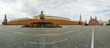 Panorama of Red Square on a summer day, Moscow, Russia Royalty Free Stock Photos