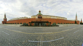 Panorama of Red Square on a summer day, Moscow, Russia Stock Photos