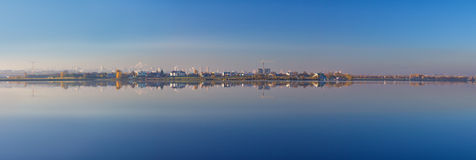 Panorama of reflecting city Royalty Free Stock Photo