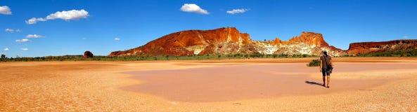 Panorama - Regenboogvallei, Zuidelijk Noordelijk Grondgebied, Australië Stock Afbeelding