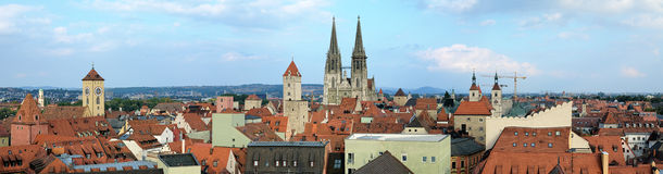 Panorama of Regensburg, Germany Royalty Free Stock Photography