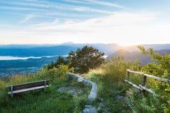 Panorama from the Regional Park Campo dei Fiori of Varese, Italy Stock Photography