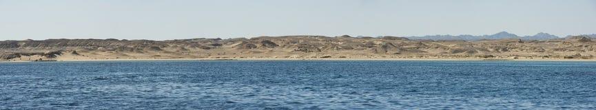 Panorama of remote desert coastline Stock Photography