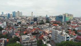 Panorama a?reo de las cercan?as de la ciudad de Jakarta indonesia metrajes