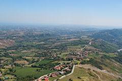Panorama of Republic of San Marino Stock Photo