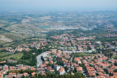 Panorama of Republic of San Marino Stock Images