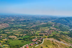 Panorama of Republic of San Marino Stock Image