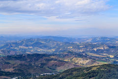 Panorama of Republic of San Marino and Italy from Monte Titano. City of San Marino. City of San Marino is capital city of Republic of San Marino located on Royalty Free Stock Photos