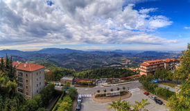 Panorama of Republic of San Marino and Italy from Monte Titano, City of San Marino. City of San Marino is capital city of Republic of San Marino located on Royalty Free Stock Photography