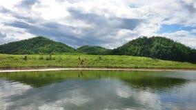 Panorama reservoir Stock Photos