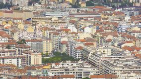 Panorama of residential buildings in Nice resort city, real estate in France stock footage