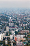 Panorama of residential district in autumn Royalty Free Stock Images
