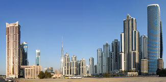 Panorama of residential district in Dubai Stock Photo