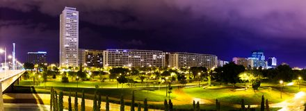 Panorama of residential district . Valencia, Spain Royalty Free Stock Images