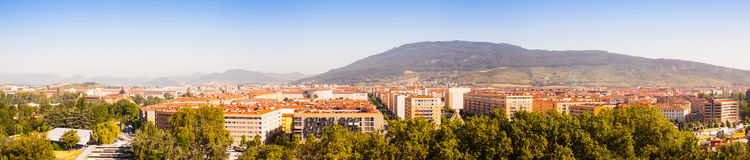 Panorama of residential districts at Pamplona Stock Photography