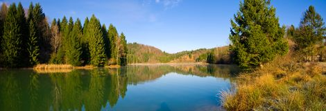 Panorama of Resko lake Stock Images