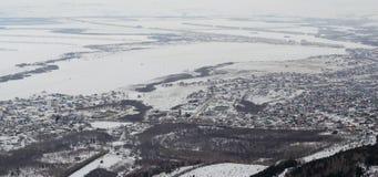 Panorama resort Belokurikha and the surrounding area stock photos