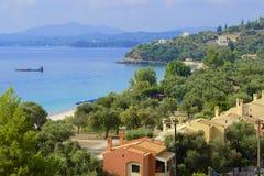 Panorama of the resort in Corfu Stock Photography