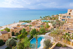 Panorama of resort on Dead Sea coast Royalty Free Stock Images