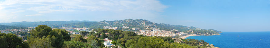 Panorama of the resort of Lloret De Mar in Spain Stock Photos