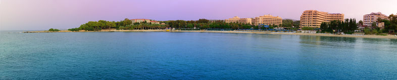 Panorama Resort Turkish coast Stock Photography