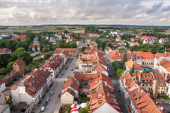 Panorama of Reszel in Poland Royalty Free Stock Photos