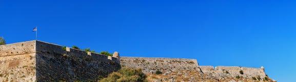 panorama rethymnon för 03 fort Arkivfoto
