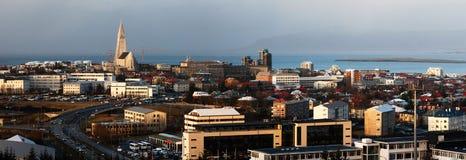 panorama Reykjavik obraz stock