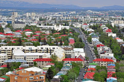 Panorama of Reykjavik city Royalty Free Stock Image