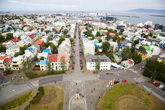 Panorama of Reykjavik, Iceland Stock Photo