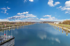 Panorama of the Rhine Royalty Free Stock Image