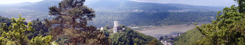 Panorama of the Rhine Royalty Free Stock Photography