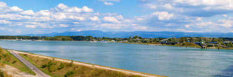 Panorama of the Rhine river Royalty Free Stock Photo