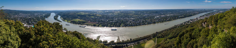 Panorama of Rhine valley Royalty Free Stock Photography