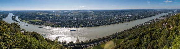 Panorama of Rhine valley Royalty Free Stock Images