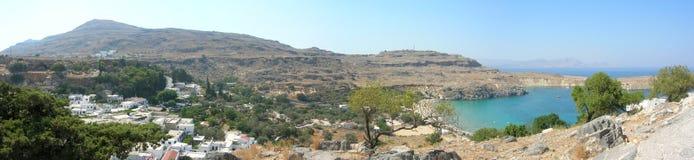 panorama rhodes Arkivfoton