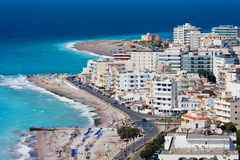Panorama of Rhodes town Stock Photography