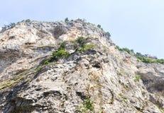 Panorama Rhodope góry, obficie przerastająca z Dec Obrazy Royalty Free